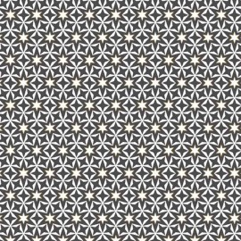 Tissu coton Makower UK Geometric Stars - gris x 10cm