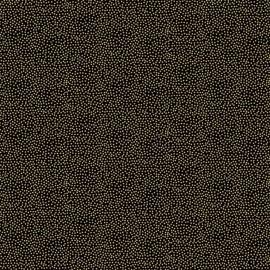 Tissu coton Makower UK Dotty - noir x 10cm