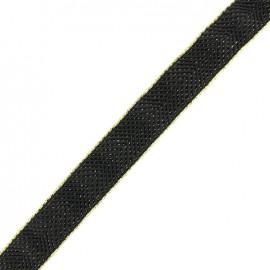 Elastique chevron lurex 30mm - noir/or x 50cm