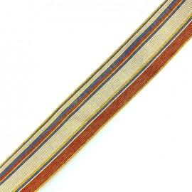 Elastique plat lurex rayé 45mm - multi x 50cm