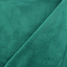 Minkee velvet fabric - emeraude x 10cm