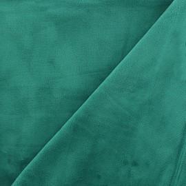 Tissu Velours minkee doux ras - émeraude x 10cm