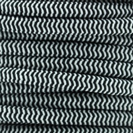 Elastic cord 5mm multi - white/black x1m