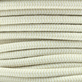 Elastic cord 5mm multi - ecru/white x1m