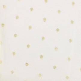 Constellation golden lurex fabric - ecru x 10cm