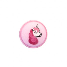 Polyester button Unicorn shank - pink