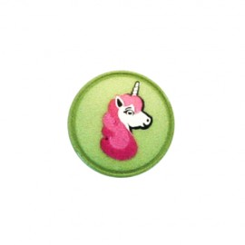 Polyester button Unicorn shank - green