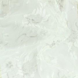 Tissu dentelle lurex Blossom - écru x 10cm