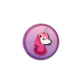 Bouton Polyester Licorne - violet