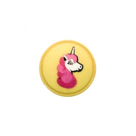 Polyester button Unicorn shank - yellow
