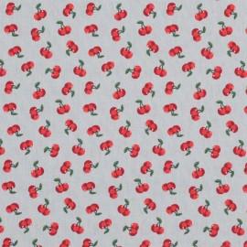 Tissu Oeko-Tex Poppy Cherry blossom - gris x 10cm