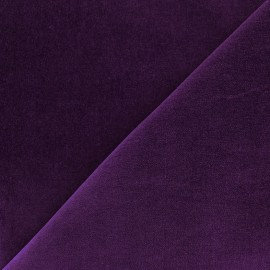 Short velvet fabric - purple x 10cm