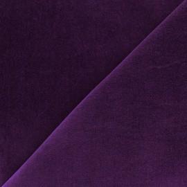 Tissu Velours ras violet x10cm