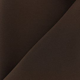 Tissu crêpe lourd Mirla - brownie x 10cm