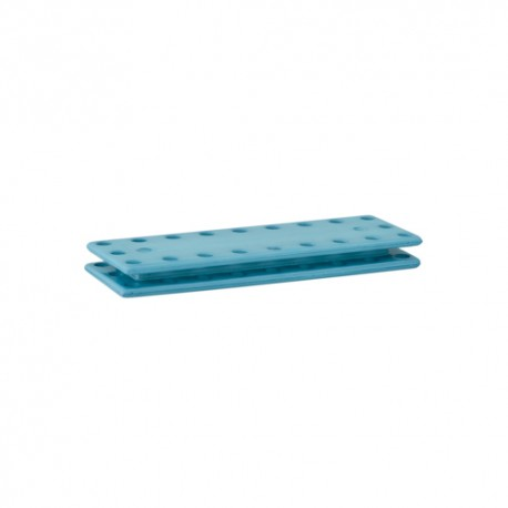 Rectangular snap button to sew - blue