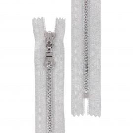 Fermeture Eclair® non séparable lurex Z93 - argent
