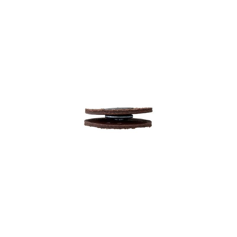 Bouton pression coudre cercle en cuir marron - Poser un bouton pression ...