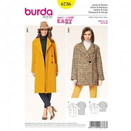 Jacket & Coat Sewing Pattern Burda n°6736
