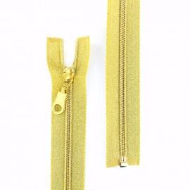 Fermeture Eclair® séparable lurex Z94 maille spiralée - doré