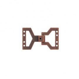Fermoir crochet métal - bronze clair