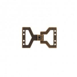 Metal clasp - dark bronze
