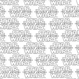 Cotton fabric Camelot fabrics Star Wars the force awakens - white x 15cm
