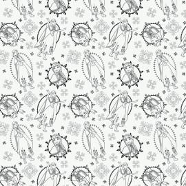 Cotton fabric Camelot fabrics Frozen Anna - white x 30cm