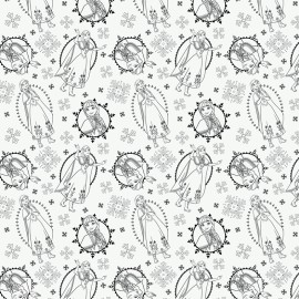 Tissu coton Camelot fabrics Frozen Anna - blanc x 30cm
