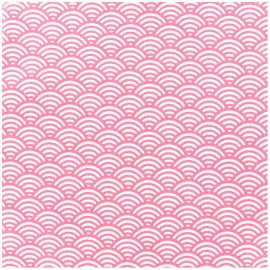 Coated cotton fabric Sushis - pink x 10cm