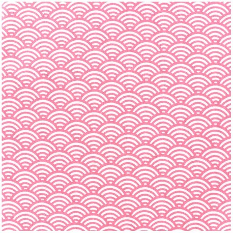 Coated cotton fabric Sushis - light grey x 10cm