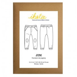 Sewing pattern Ikatee Jim jogging pants : from 3 to 12 years old