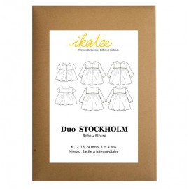 Sewing pattern Ikatee Stockholm Duo blouse & dress : from 6 moths to 4 years old