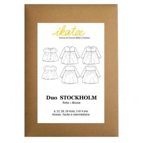 Patron Ikatee Stockholm Robe et Blouse - de 6 mois à 4 ans