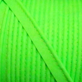 Ruban passepoil unis fluo vert
