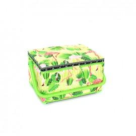 Boîte à couture Flamingo taille M - vert