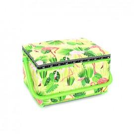 Boîte à couture Flamingo taille L - vert