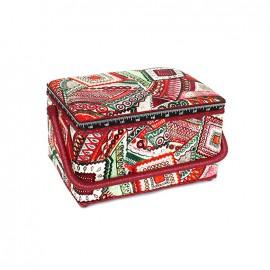 Boîte à couture Ethnic taille L - rouge