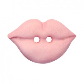Bouton Polyester Lips - rose
