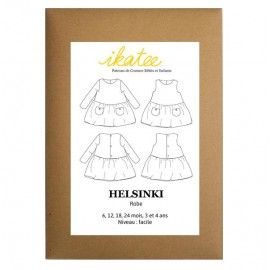 Sewing pattern Ikatee Dress Helsinki : from 6 moths to 4 years old