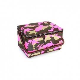 Boîte à couture Camouflage taille M - fuchsia