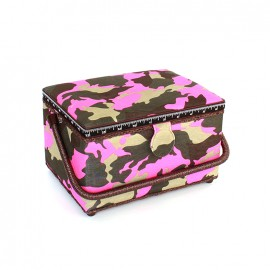 Sewing box Camouflage taille L - fuchsia
