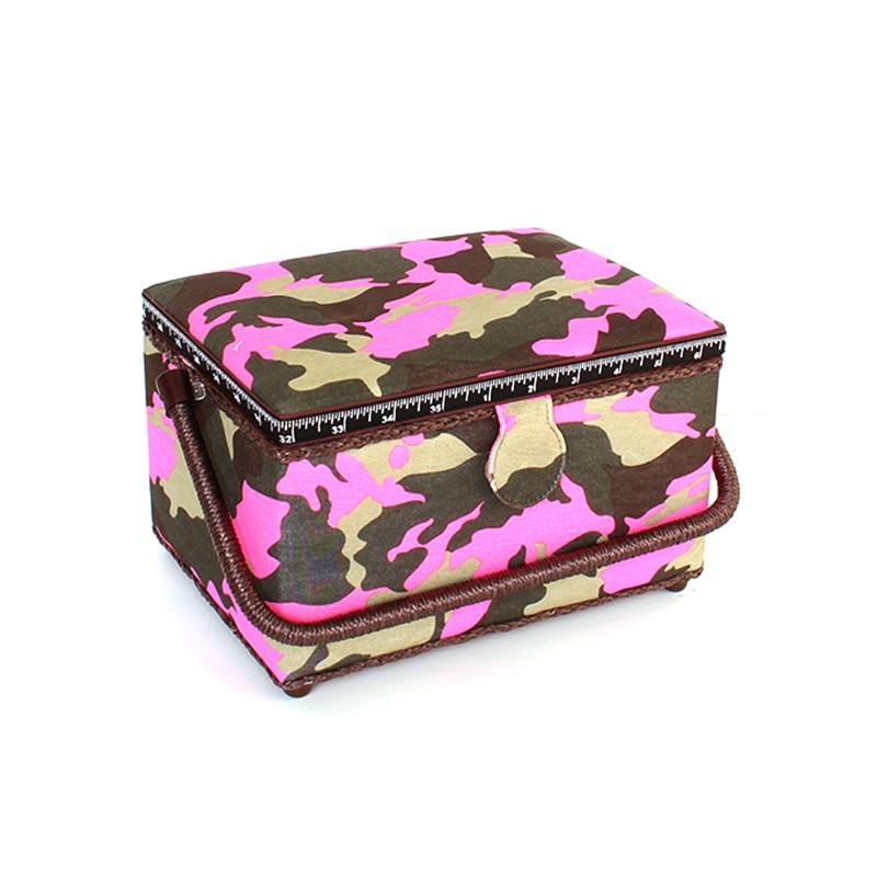 Bo te couture camouflage taille l fuchsia ma petite for Boite mercerie
