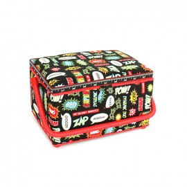 Boîte à couture Pow taille L - noir