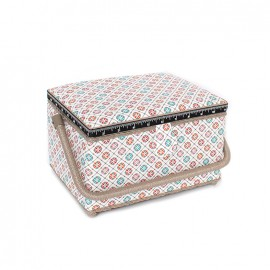 sewing box carreaux de ciment size l ecru ma petite. Black Bedroom Furniture Sets. Home Design Ideas