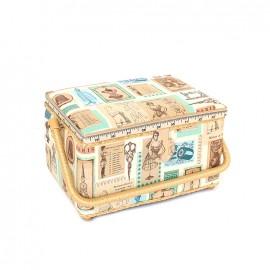 Boîte à couture Madame taille L - beige
