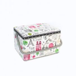 Sewing box Je t'aime Paris size M - ecru
