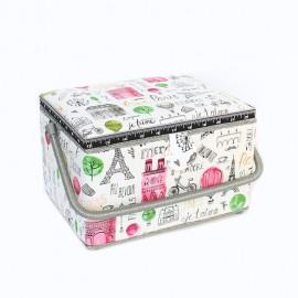 Sewing box Je t'aime Paris size L - ecru