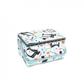 Sewing box Passion couture size M - sky