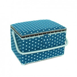 Sewing box Etoiles size L - petrol