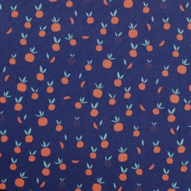 Tissu Oeko-Tex popeline Madame casse bonbon - Pom bazar x 10cm